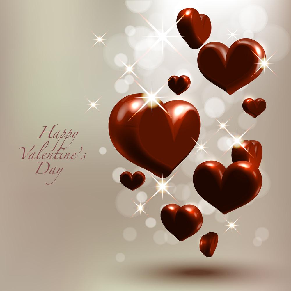 Vector Valentine's Chocolate Hearts