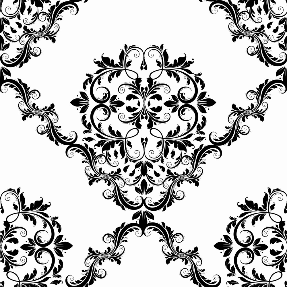 Vector Victorian Seamless Pattern