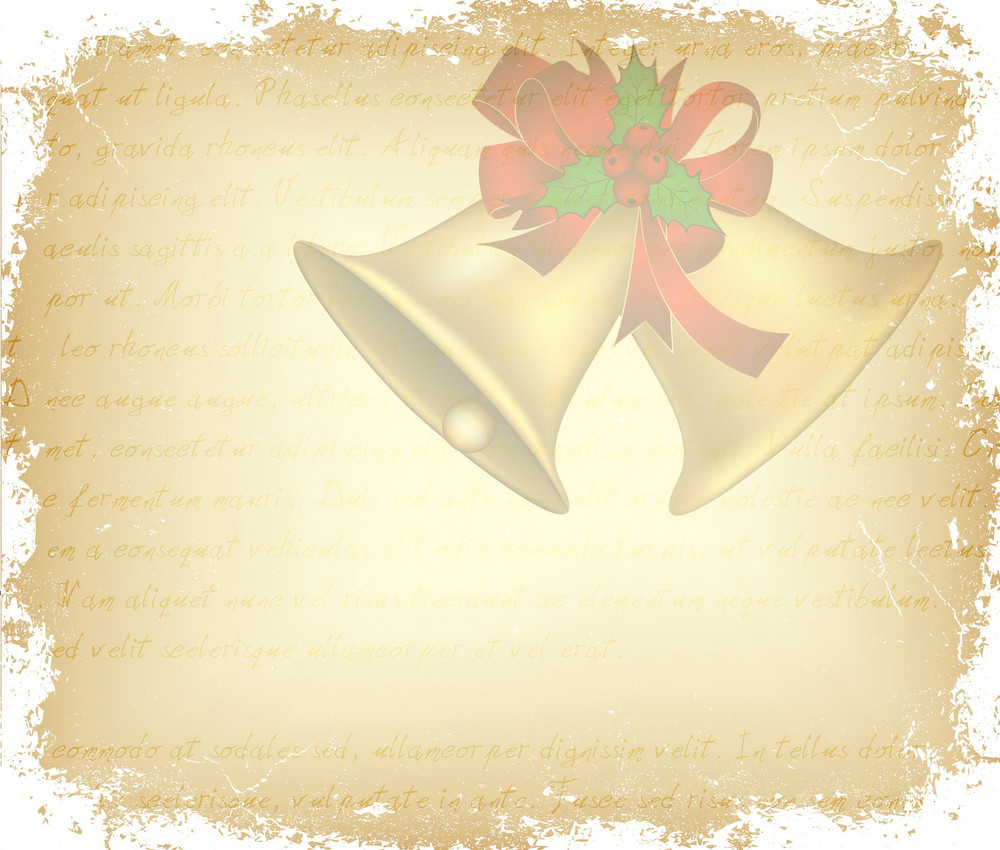 Vector Vintage Christmas Greeting Card