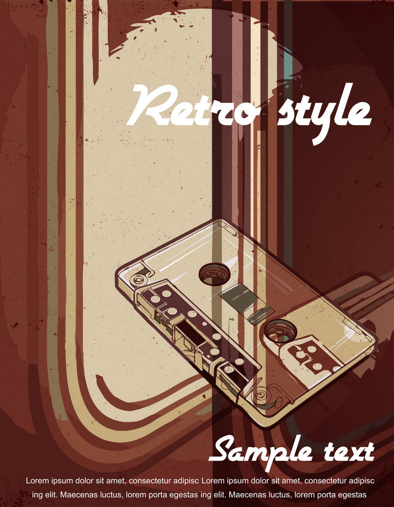 Vector Vintage Concert Poster