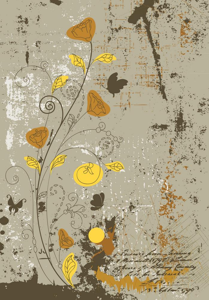 Vector Vintage Floral Background