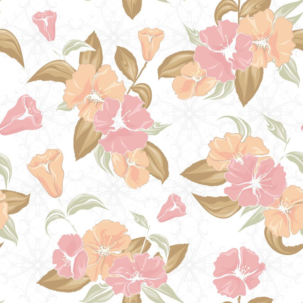Vector Vintage Floral Pattern