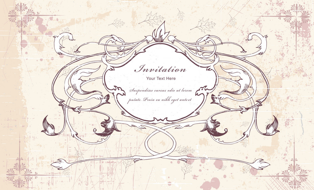 Vector Vintage Frame With Floral