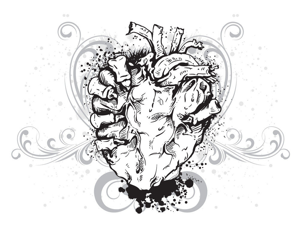 Vector Vintage Illustration With Heart