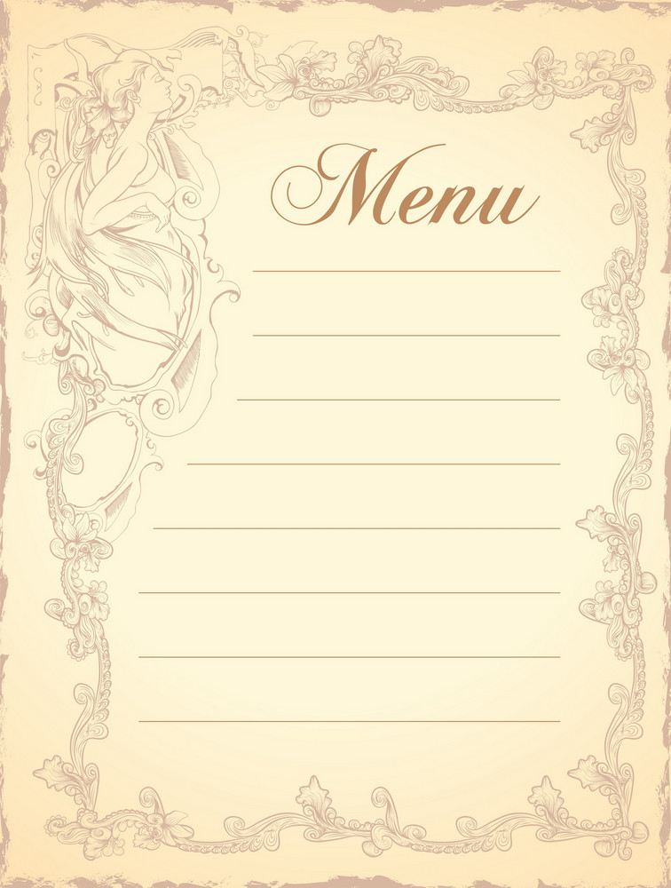 Vector Vintage Restaurant Menu