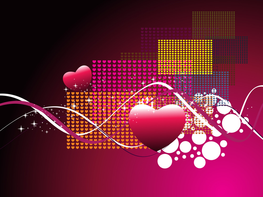 Vector Wallpaper For Valentine Day