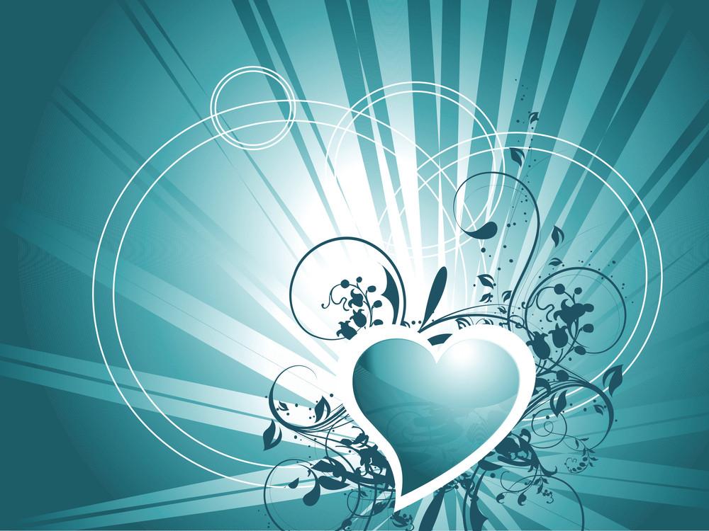 Vector Wallpaper Of Gradient Sea Green Hearts