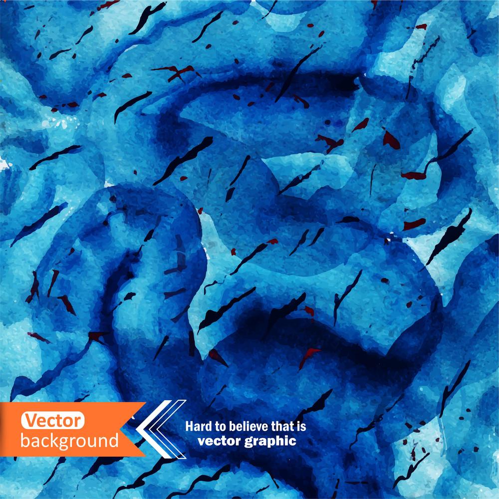 Vector Watercolor Ocean Background