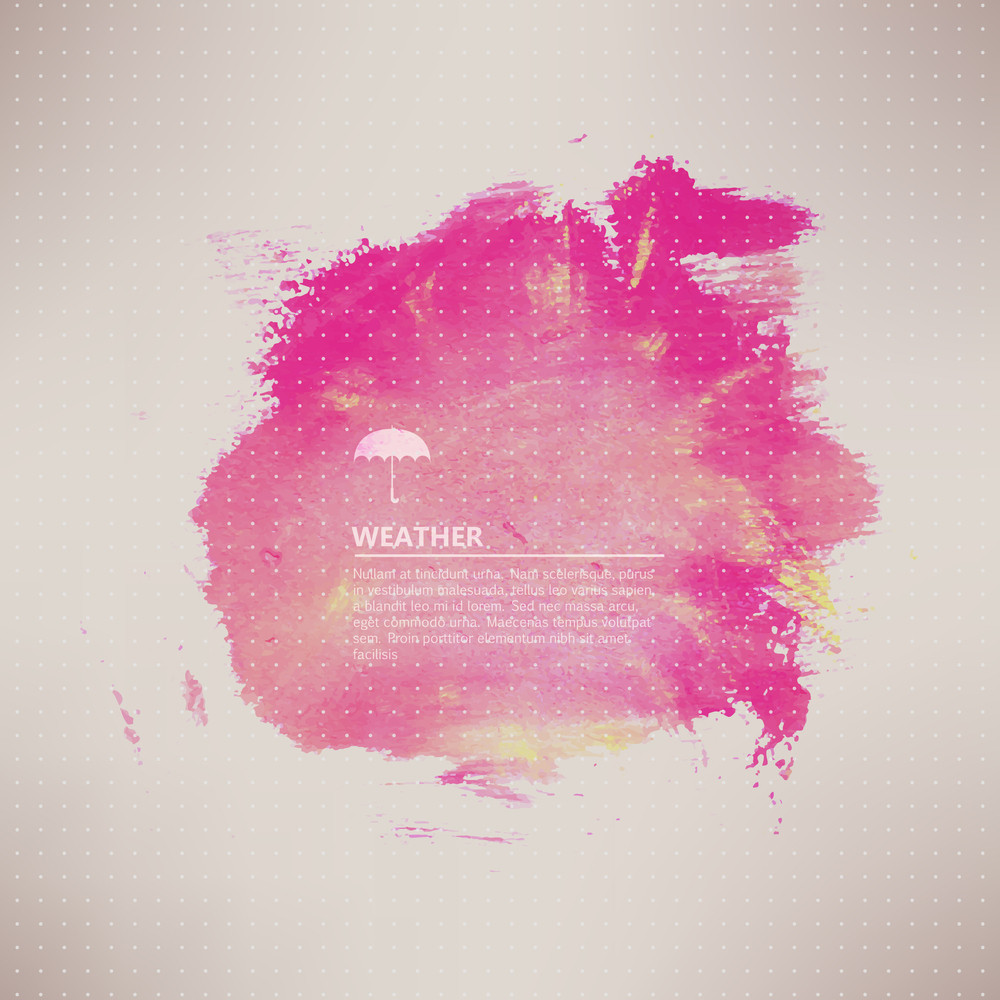Vector Watercolor Texture. Pink Grunge Paper Template. Water. Wet Paper. Blobs