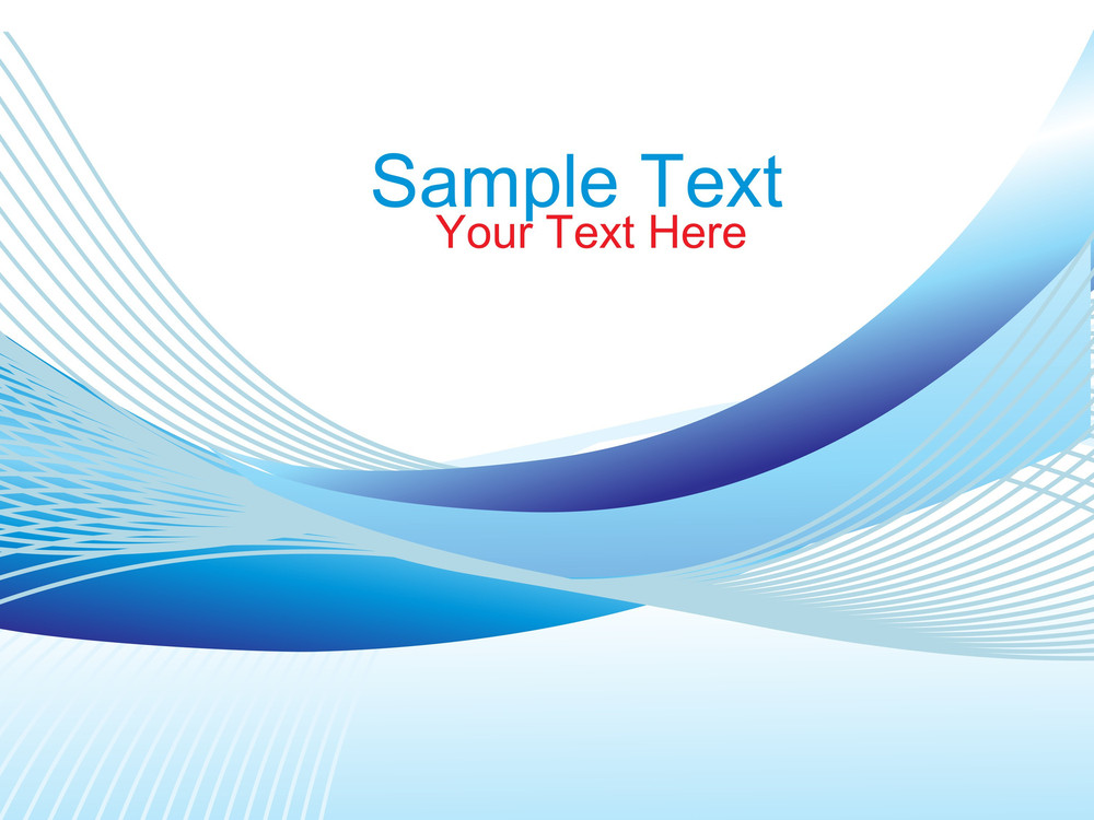 Vector Waves And Place For Your Text
