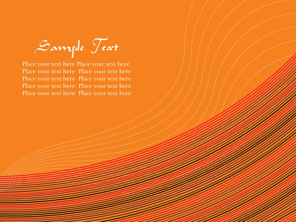Vector Waves Background Abstract Illustration