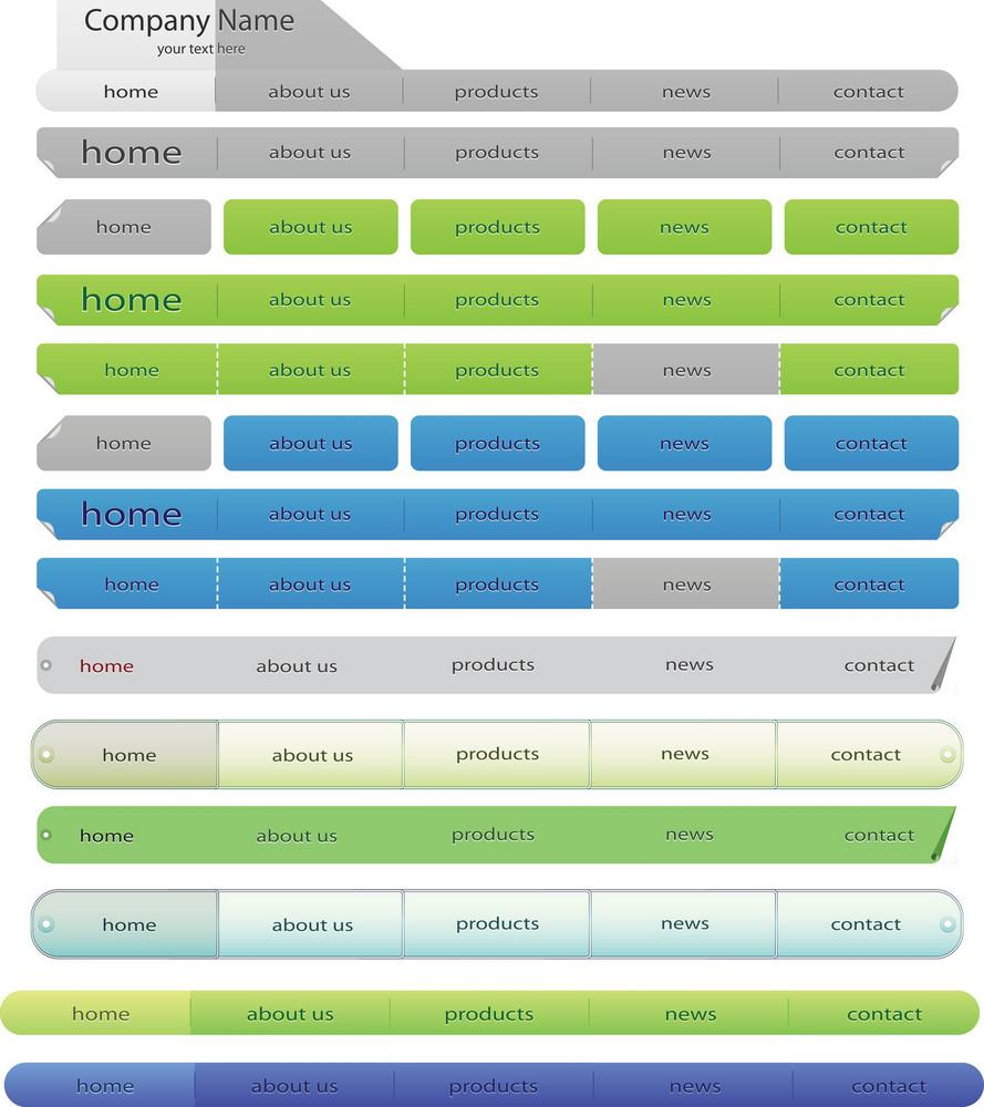 Vector Web Navigation Menus