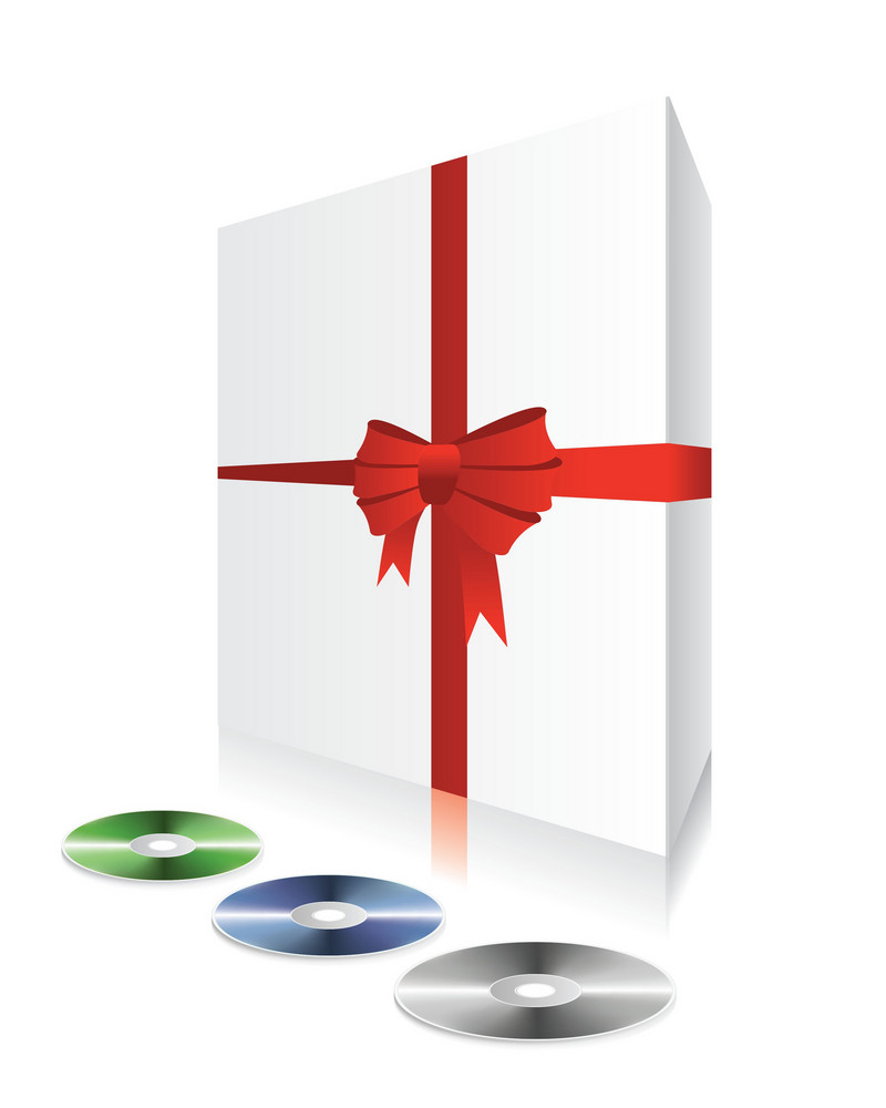 Vector White Box With Cd