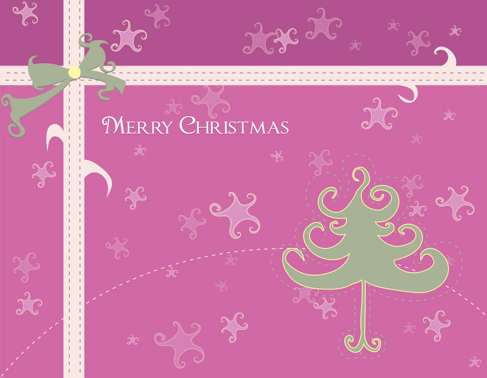 Vector Winter Background With Abstract Tree