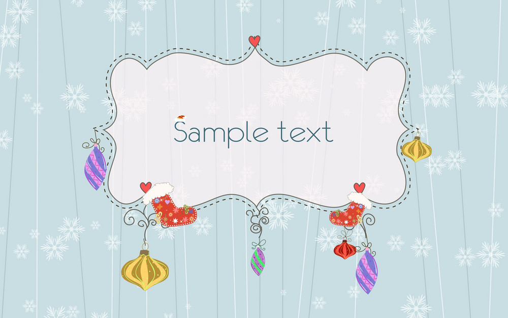 Vector Winter Frame With Sox