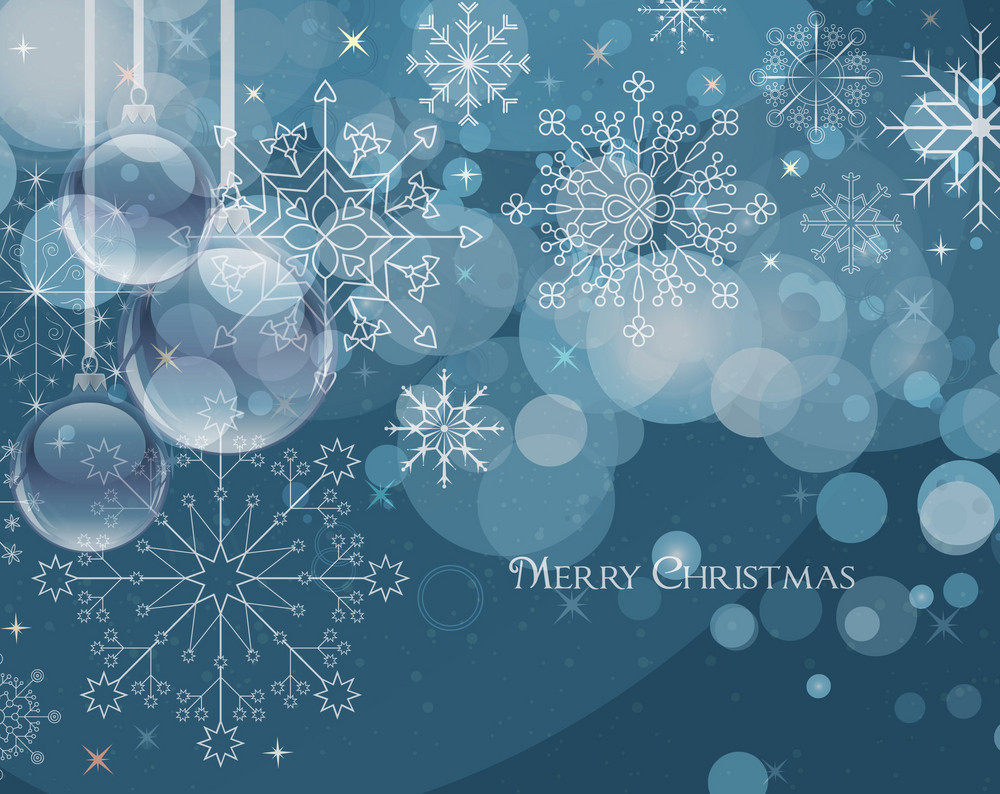Vector Winter Greeting Card With Snowflakes