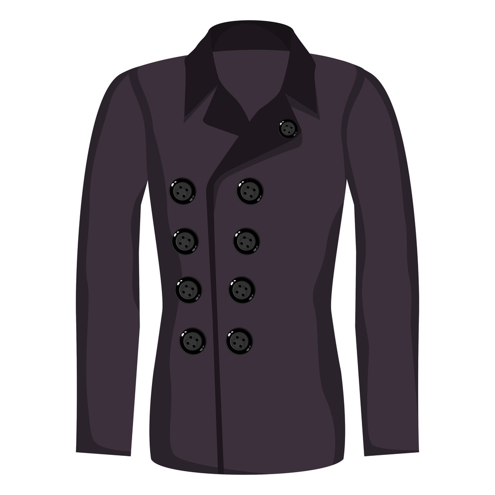 Vector Winter's Jacket With Purple Color