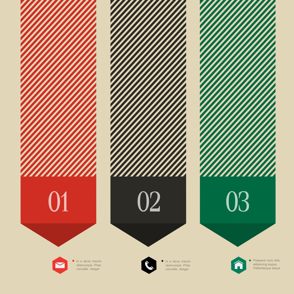 Vertical Banner-arrow Design For Infographics