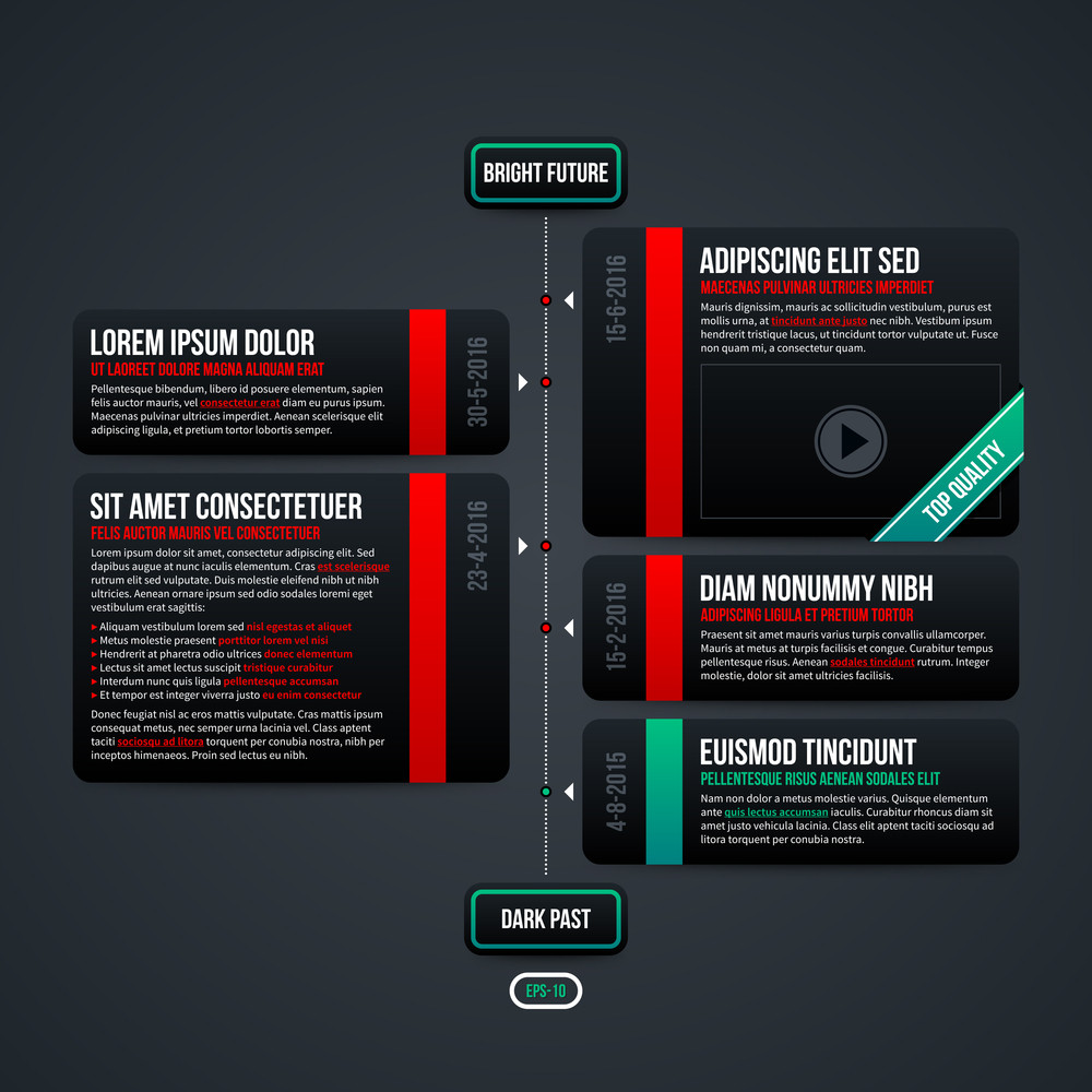 vertical timeline template for web eps 10 royalty free stock image