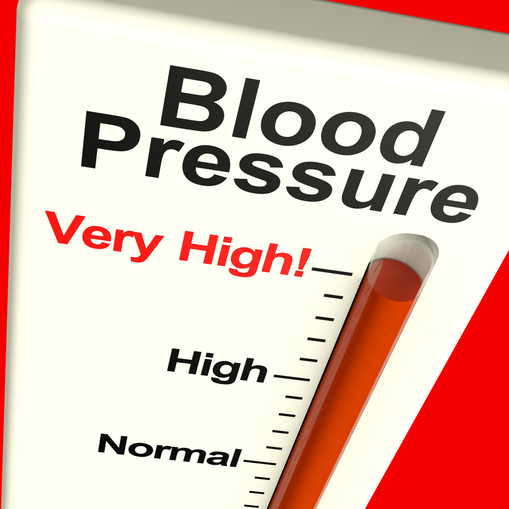 Very High Blood Pressure Showing Hypertension And Stress