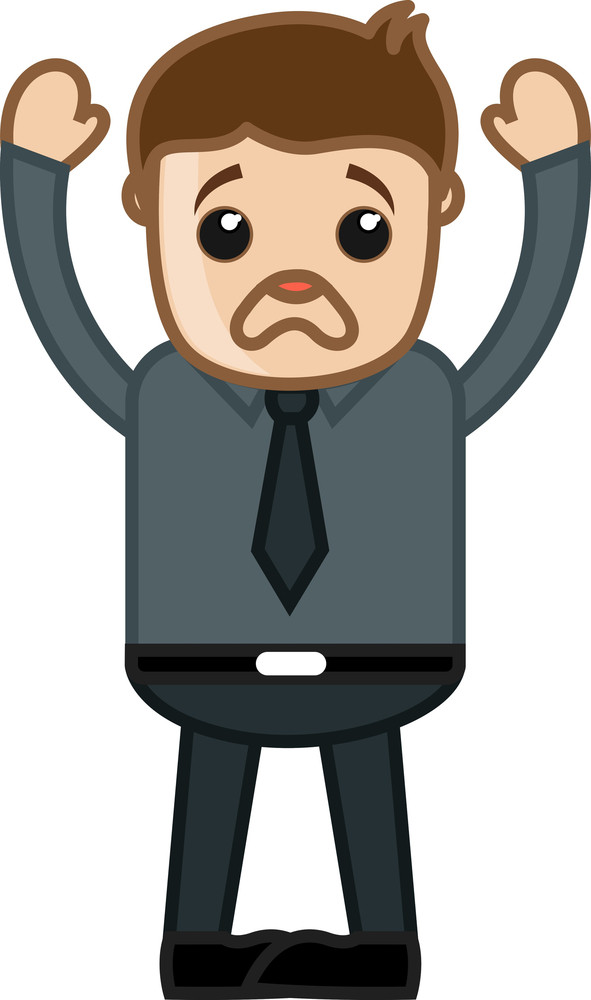 Very Upset Man - Business Cartoon Character Vector