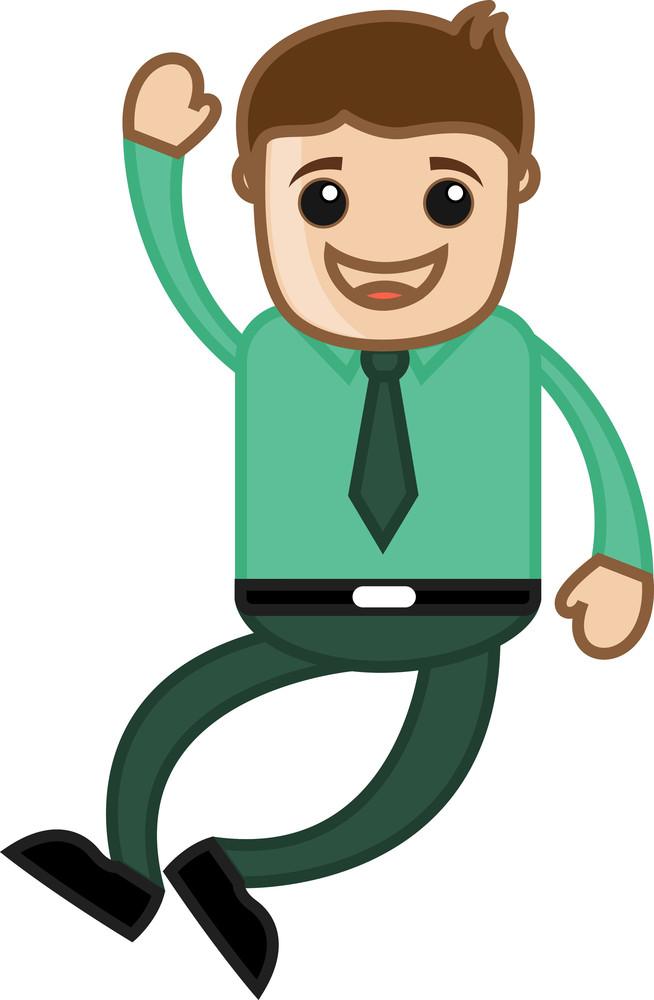 Very Very Happy - Office Corporate Cartoon People