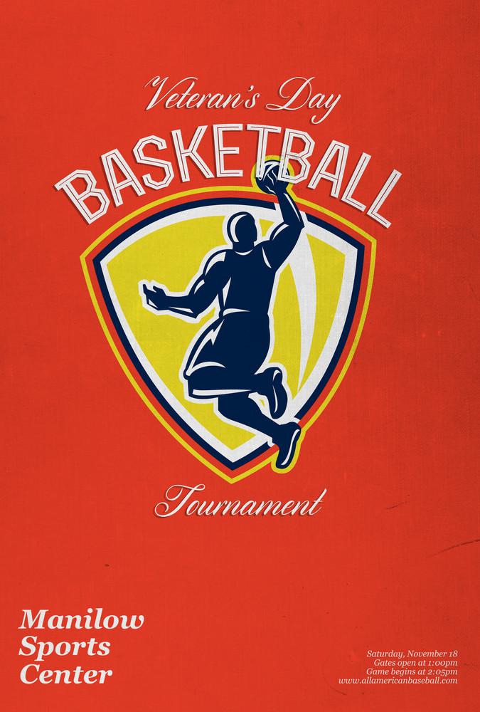 Veterans Day Basketball Tournament Poster