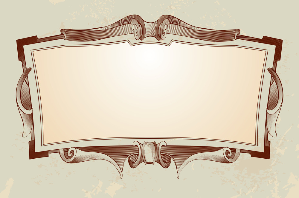 Victorian-styled Engraved Border