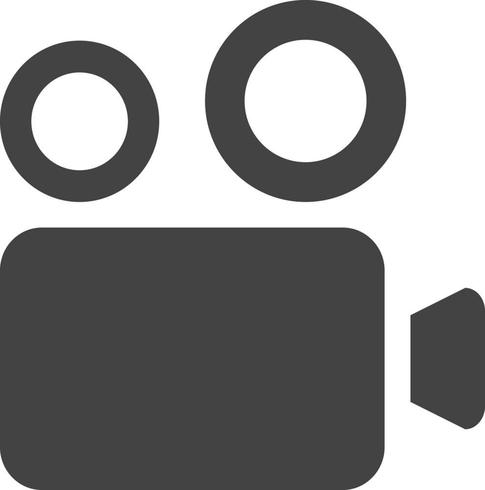 Video Camera1 Glyph Icon