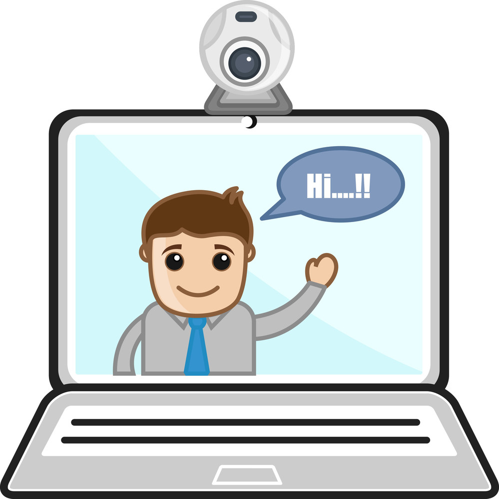 Video Chat - Business Cartoons Vectors