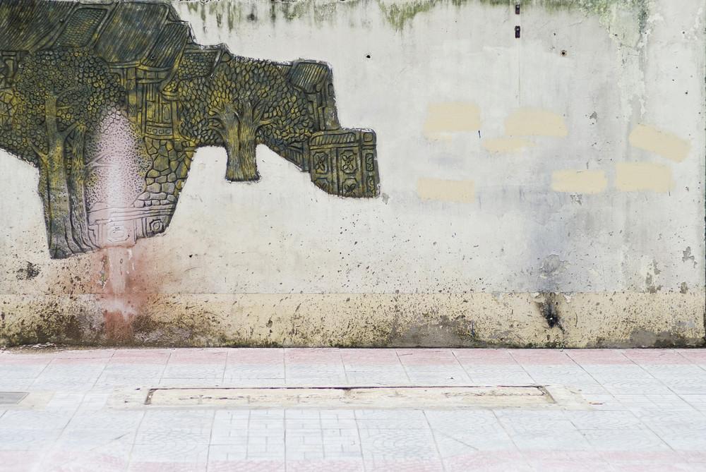 Vietnam wall on the street