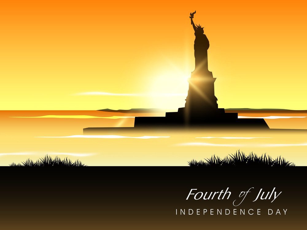 View Of Statue Of Liberty In Evening