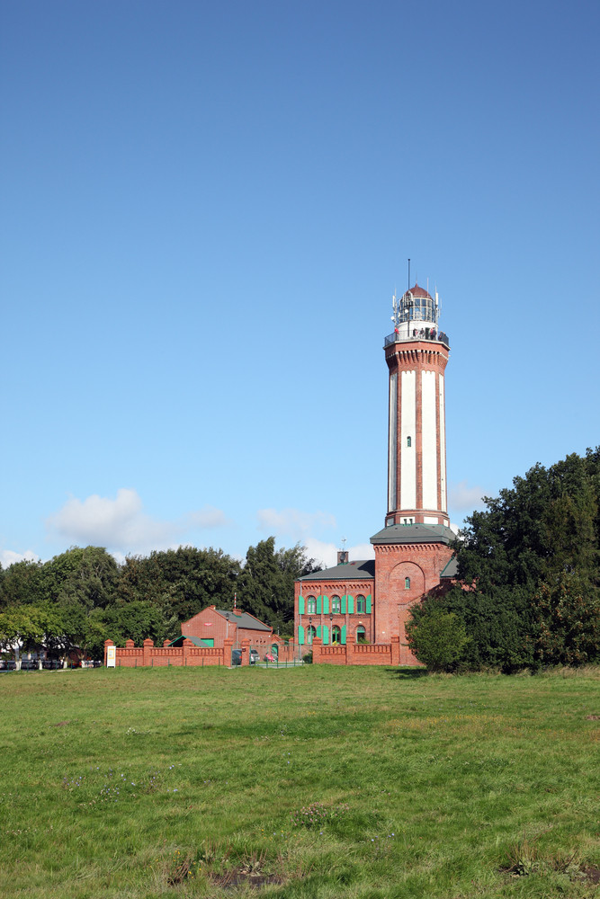 View Of The Historic Lighthouse On The Baltic Sea