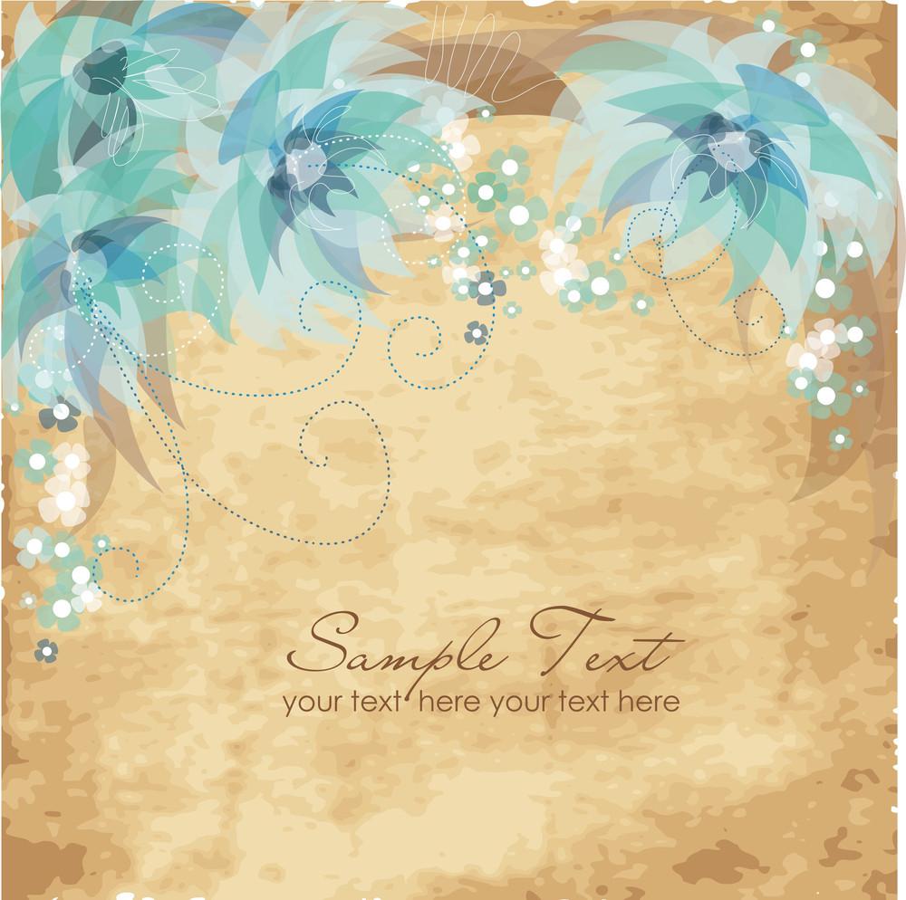 Vinage Flower Background