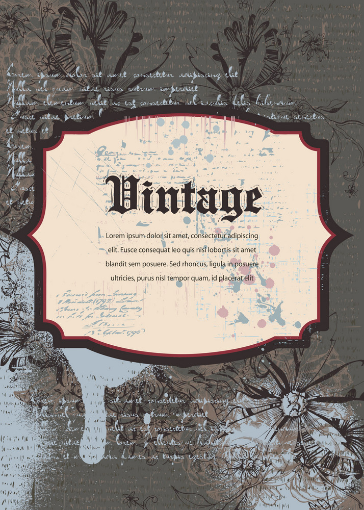 Vintage Background Vector Illustration