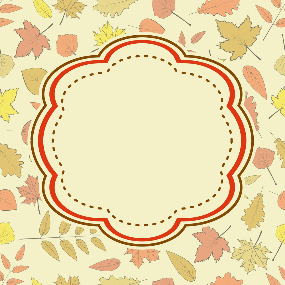 Vintage Background With Autumn Leaves And Space