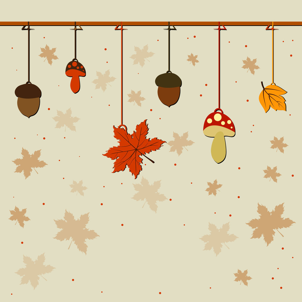 Vintage Background With Autumn Leaves