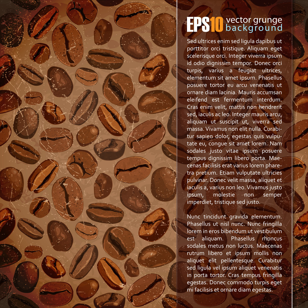 Vintage Background With Coffee Beans.