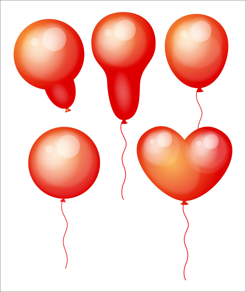 Vintage Balloons Vector Set