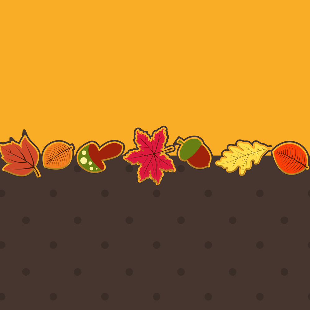 Vintage Beautiful Background With Autumn Leaves And Space For Your Text