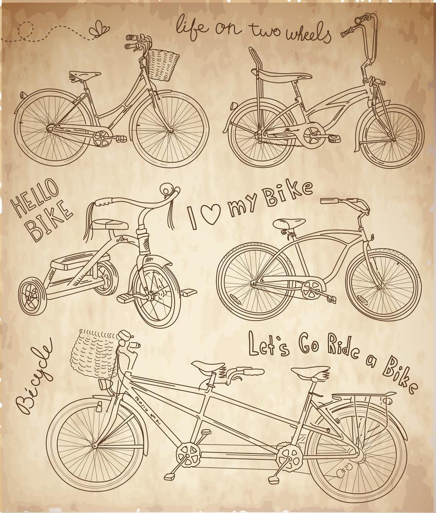 Vintage Bicycle Set