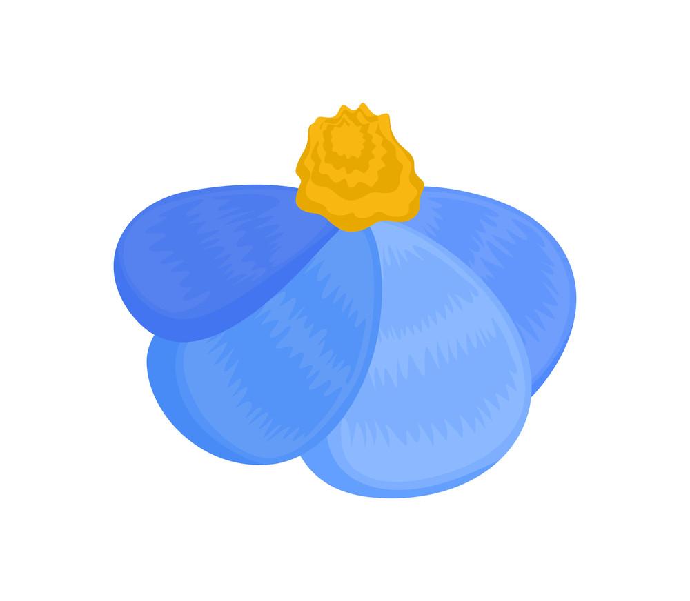 Vintage Blue Flower