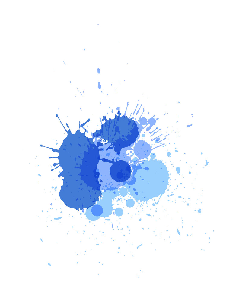 Vintage Blue Paint Drops
