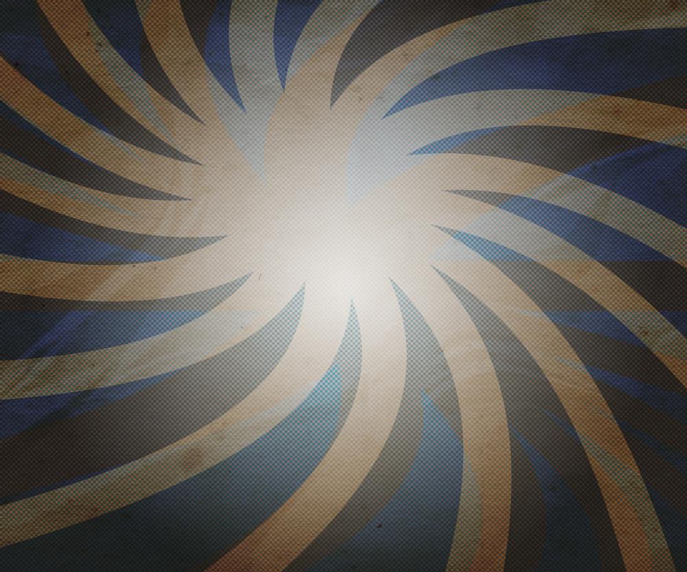 Vintage Blue Rays Background
