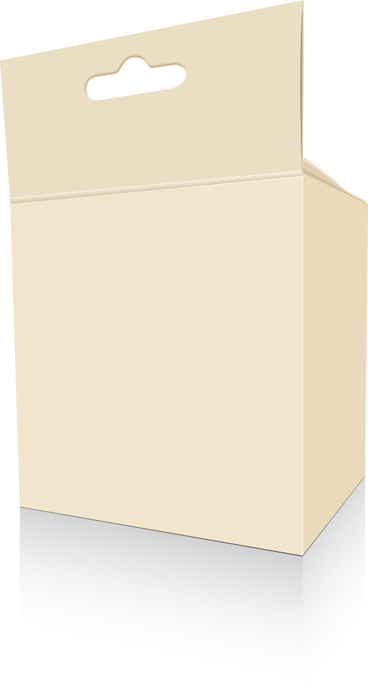 Vintage Brown Box Design Illustration