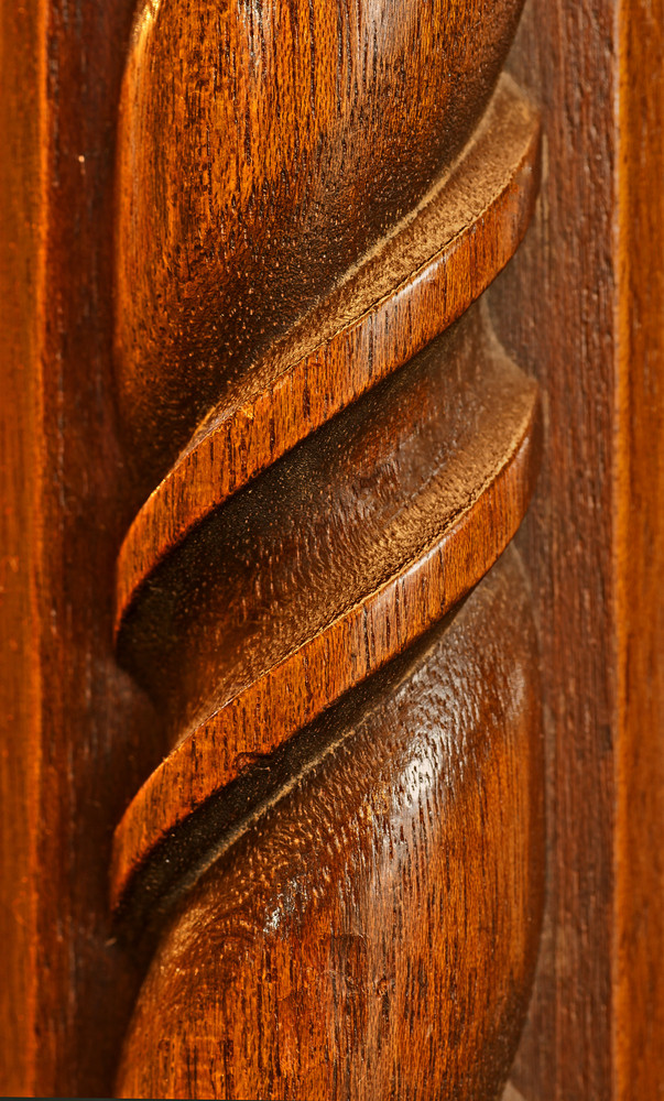 Vintage Carved Mahogany Vertical