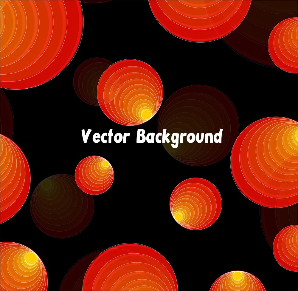 Vintage Circles Pattern Background