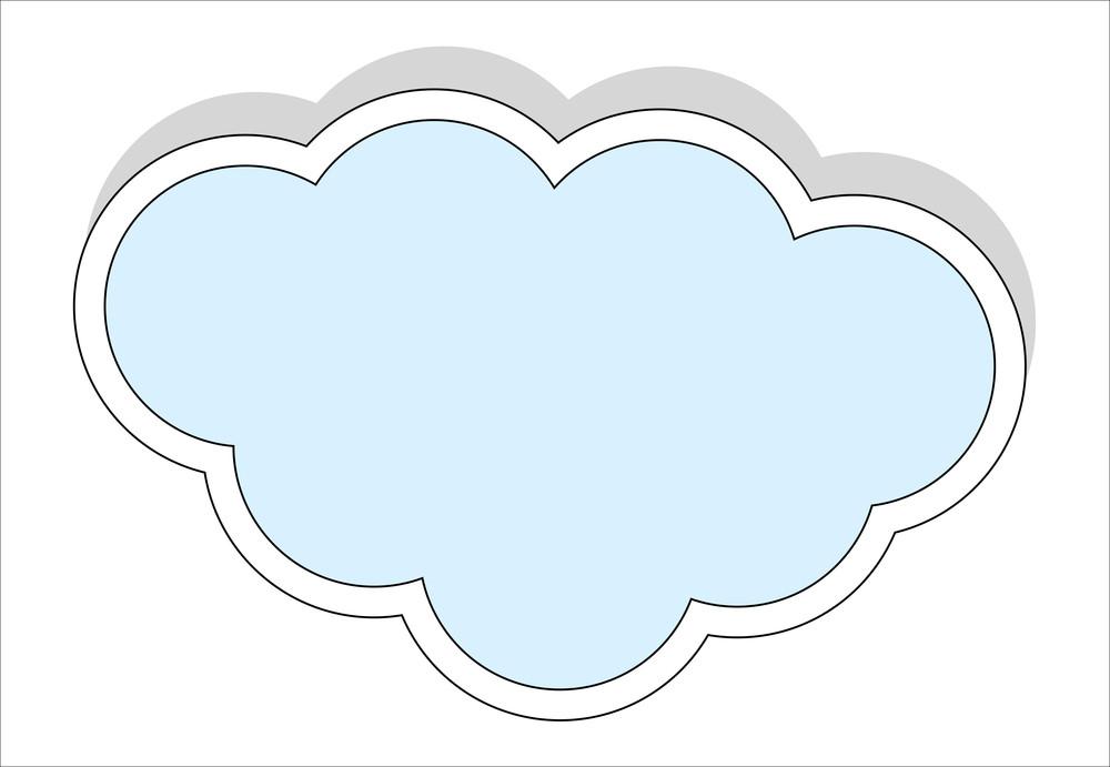 Vintage cloud sticker
