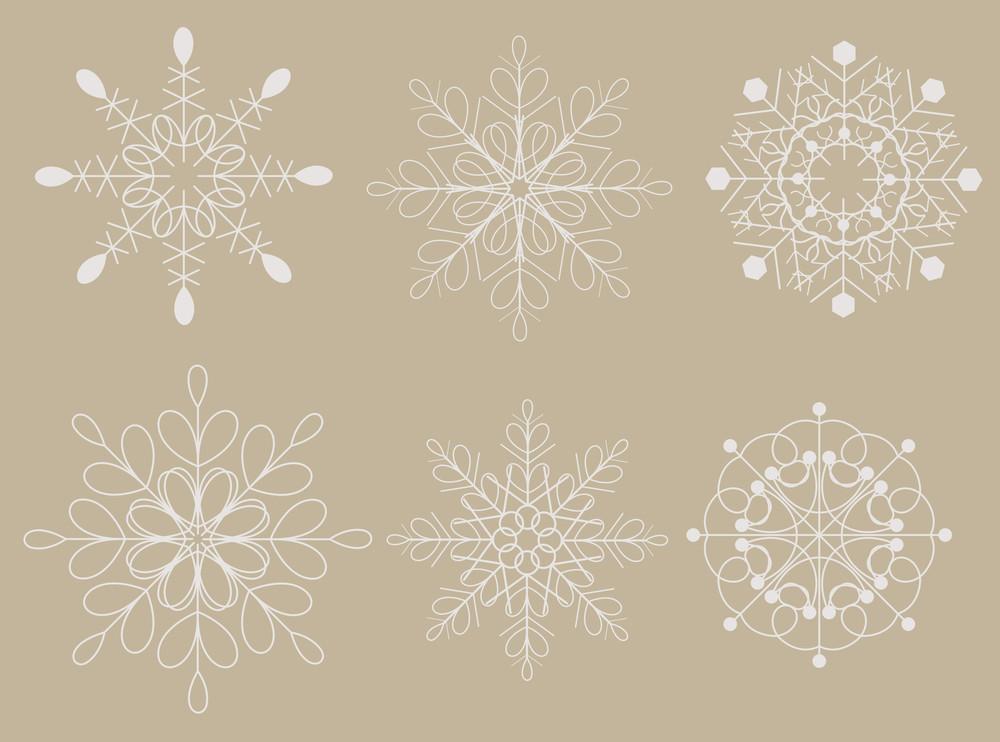 Vintage Decorative Snowflakes