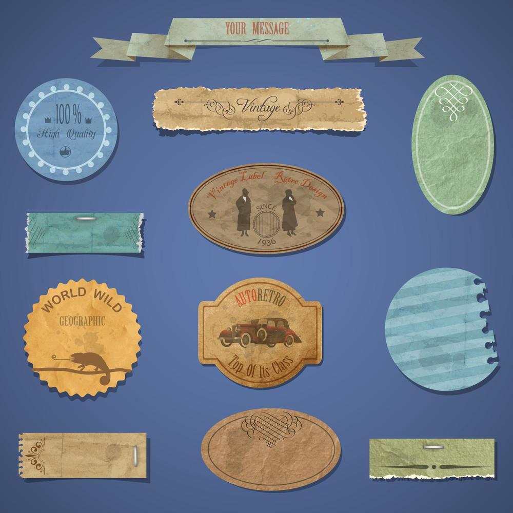 Vintage Design Elements. Vector Set